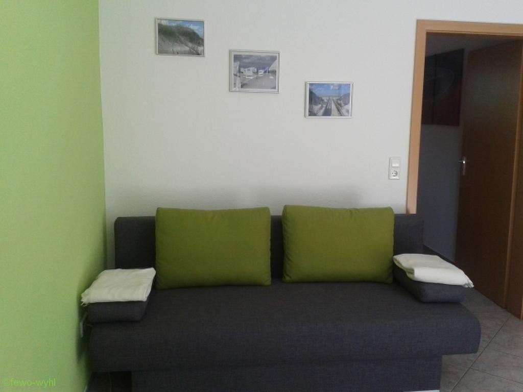 Sitzbereich der Ferienwohnung Wyhl